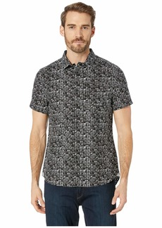 Kenneth Cole City Windows Print Short Sleeve Button Down Shirt