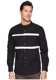 Kenneth Cole Collarband Pieced Shirt