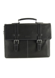 "Kenneth Cole Colombian Leather Double Gusset Flapover 13"" Computer Portfolio Bag"