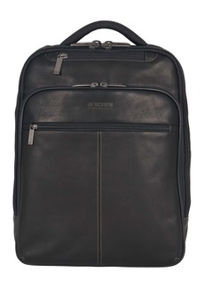 "Kenneth Cole Colombian Leather Single Compartment 15.0"" Computer Travel Backpack"