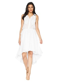 Kenneth Cole Crochet Trim Dress