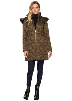 Kenneth Cole Diamond Quilted Matte Satin Down