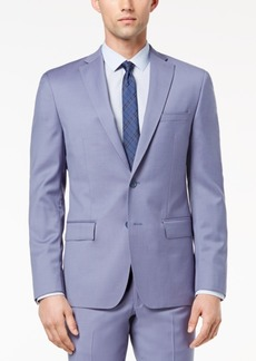 Dkny Men's Modern-Fit Stretch Blue Suit Jacket