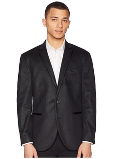 Kenneth Cole Black Textured Evening Coat