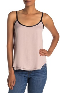 Kenneth Cole Double Layer Satin Cami Tank