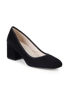 Kenneth Cole Ellouise Block Heel Suede Pumps