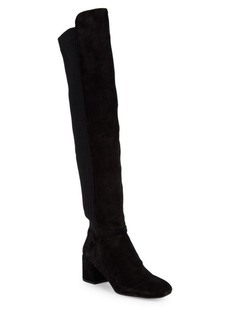 Kenneth Cole Ellouise Suede Block Heel Over-The-Knee Boots