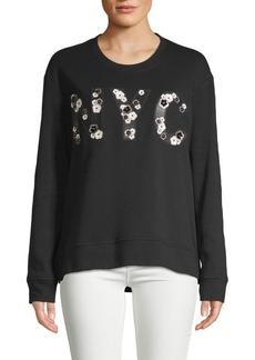 Kenneth Cole Embellished Cotton-Blend Sweatshirt