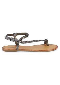Kenneth Cole Embellished Toe-Ring Sandals