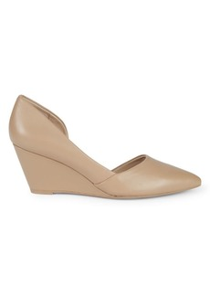 Kenneth Cole Emir Wedge-Heel Leather Pumps