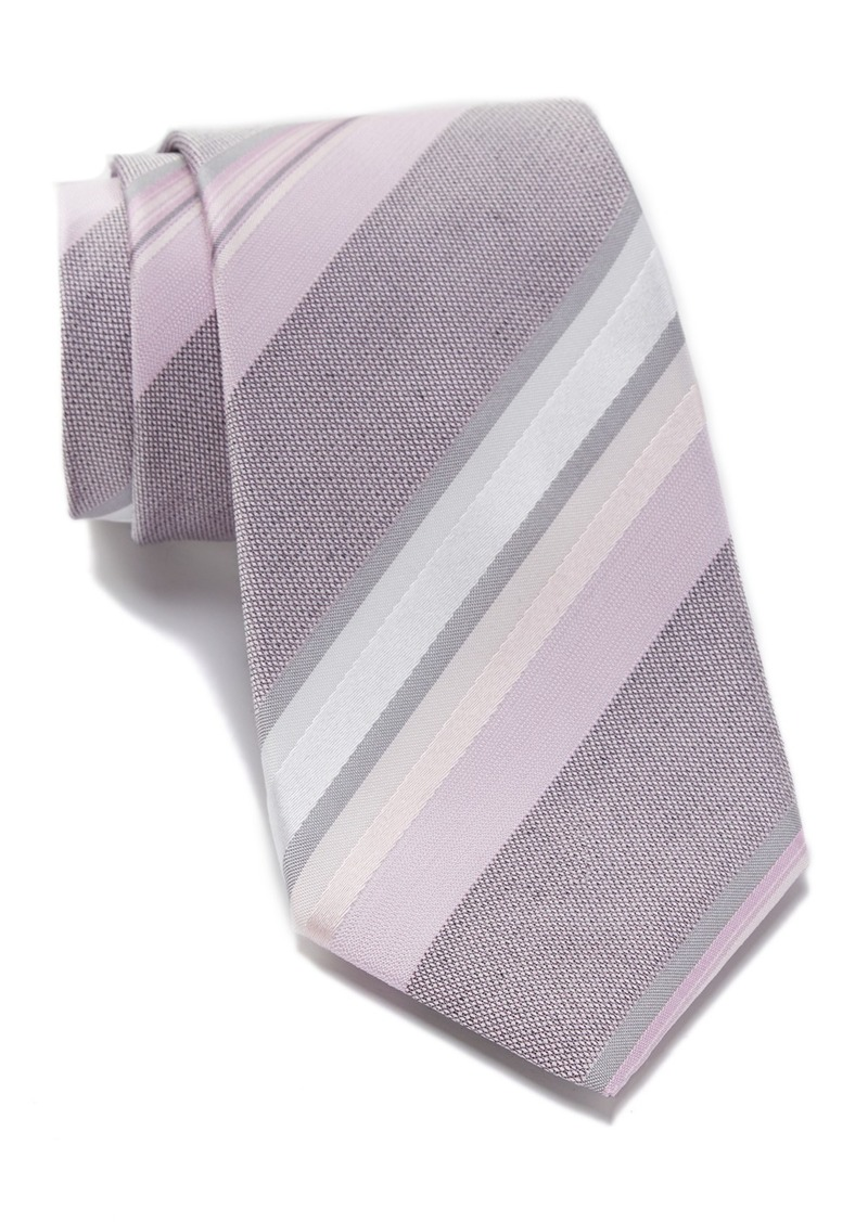 Kenneth Cole Ethan Silk Blend Stripe Tie
