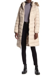 Kenneth Cole Faux Fur Trimmed Puffer Jacket