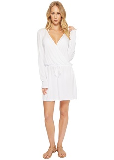 Kenneth Cole Frenchie Solids Long Sleeve Tunic Dress Cover-Up
