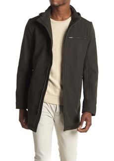 Kenneth Cole Funnel Neck Zip Soft Shell Jacket