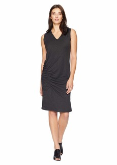 Kenneth Cole Gathered Detail Chiffon Trimed Dress