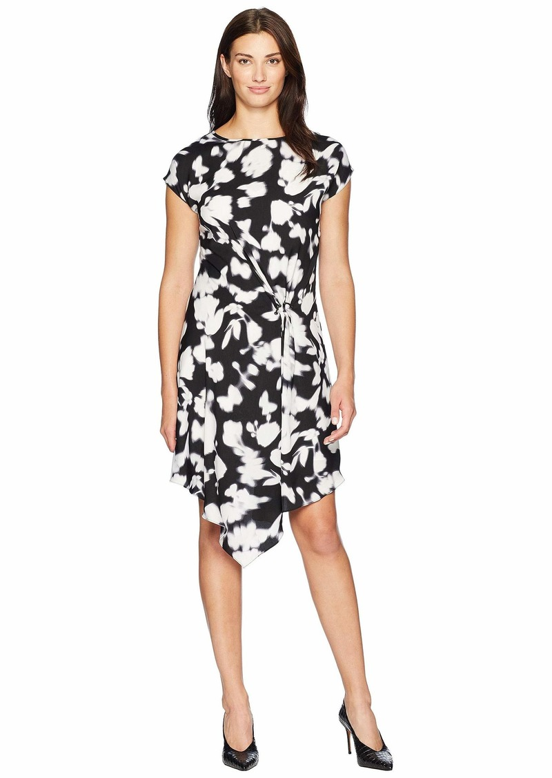 Kenneth Cole Gathered Front Detail Dress