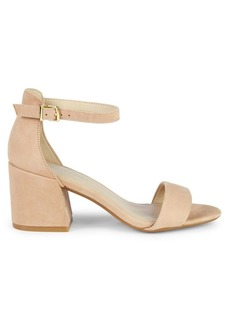 Kenneth Cole Hattie Block Heel Suede Ankle-Strap Sandals