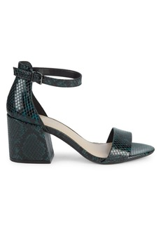Kenneth Cole Hattie Snake-Print Block Heel Pumps