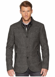 Kenneth Cole High Collar Wool Button Front