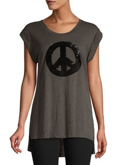 Kenneth Cole High-Low Graphic Tank Top