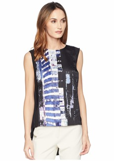 Kenneth Cole High-Low Sleeveless Blouse