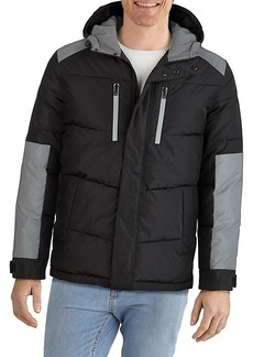 Kenneth Cole Hooded Colorblock Puffer