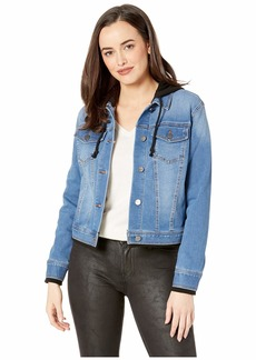 Kenneth Cole Hooded Denim Jacket