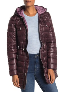 Kenneth Cole Hooded Packable Coat