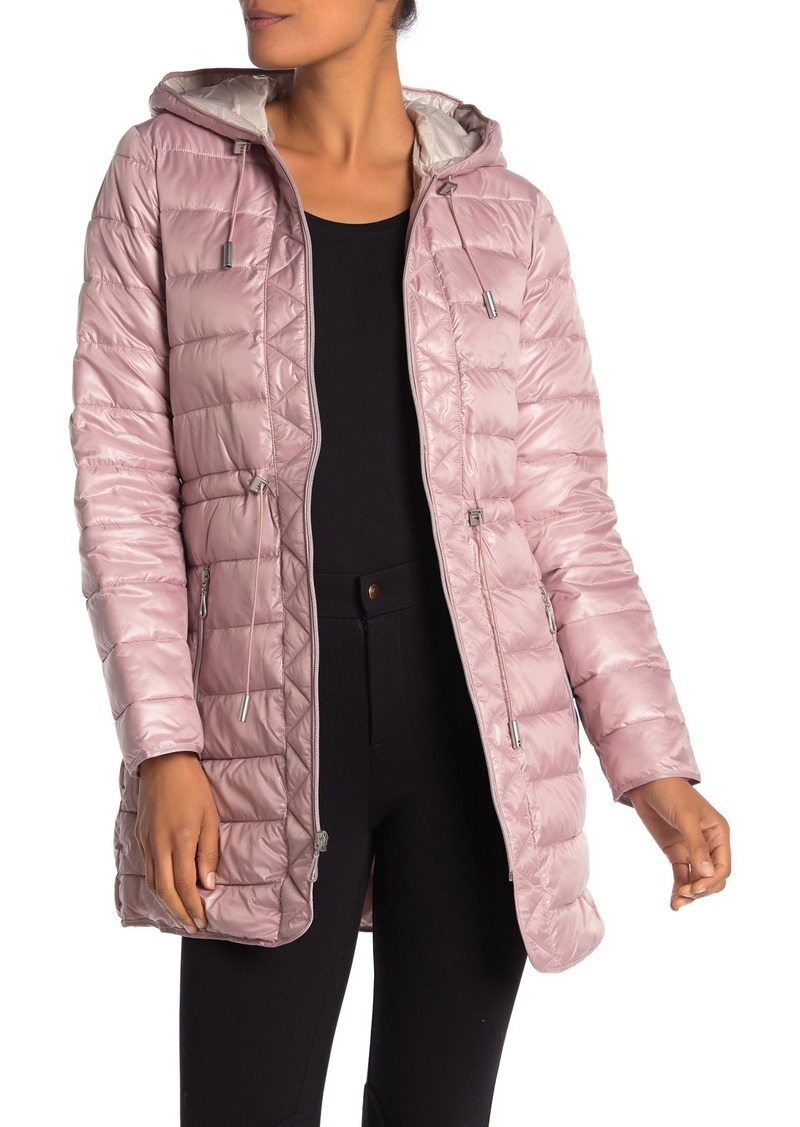 Kenneth Cole Hooded Packable Puffer Coat