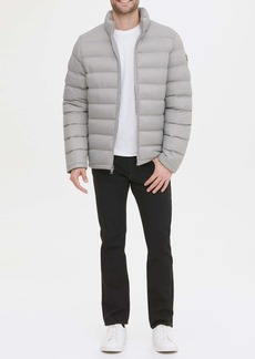 Kenneth Cole Horizontal Midweight Quilted Puffer Jacket