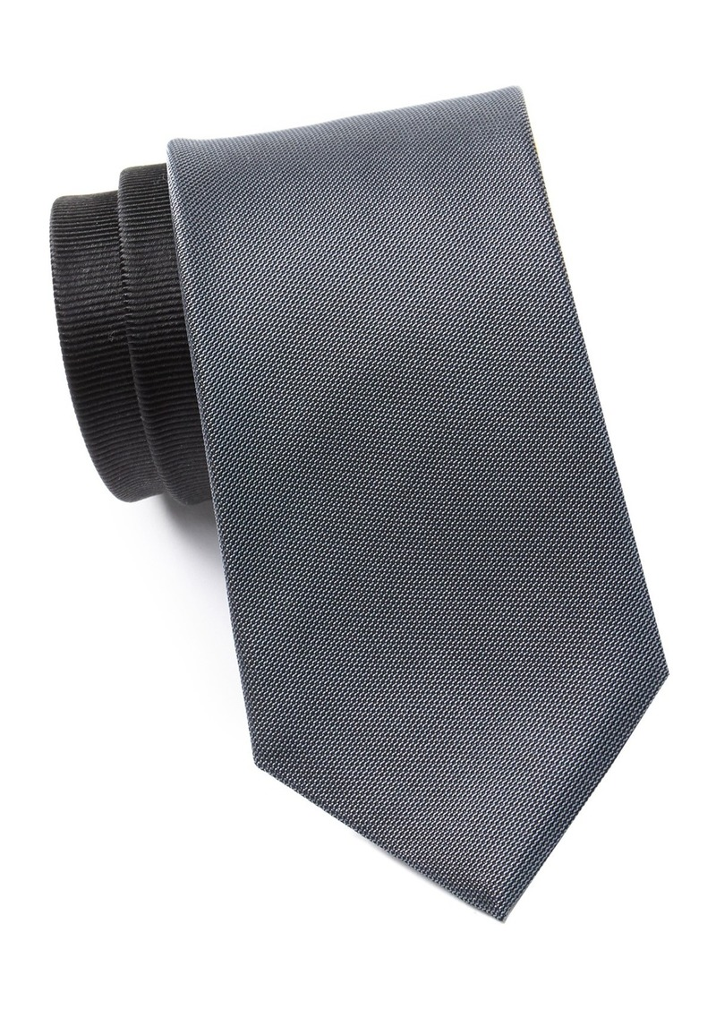 Kenneth Cole Indigo Panel Silk Blend Tie