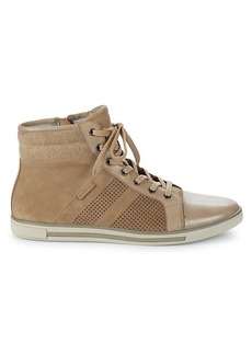 Kenneth Cole Initial Move Leather & Suede High-Top Sneakers