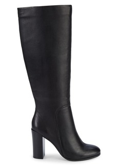 Kenneth Cole Jackie Pebbled-Leather Knee-High Boots