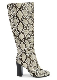 Kenneth Cole Jackie Snakeskin-Embossed Knee-High Boots
