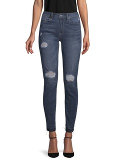 Kenneth Cole Jess Distressed Skinny Jeans