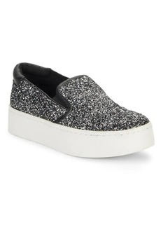 Kenneth Cole Joanie Glitter Platform Sneakers