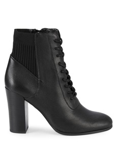 Kenneth Cole Justin Leather & Textile Lace-Up Booties