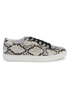 Kenneth Cole Kam Embossed Snake-Print Sneakers