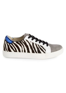 Kenneth Cole Kam Leather & Calf Hair Platform Sneakers