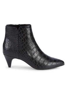 Kenneth Cole Karri Croc-Embossed Booties