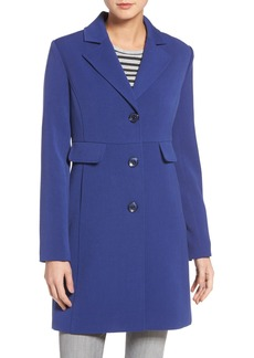 Kenneth Cole A-Line Ponte Coat (Regular & Petite)