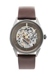 Kenneth Cole Automatic Stainless Steel & Leather-Strap Watch