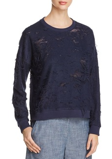 Kenneth Cole Boxy Distressed Sweatshirt
