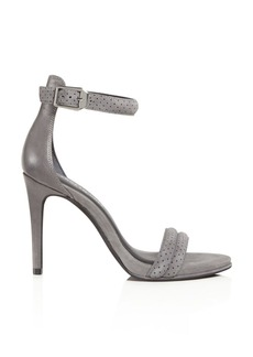 Kenneth Cole Brooke Brooke Perforated Suede High Heel Sandals