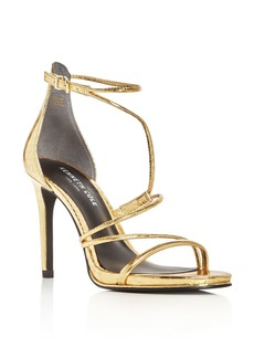Kenneth Cole Bryanna Metallic Embossed Strappy High Heel Sandals