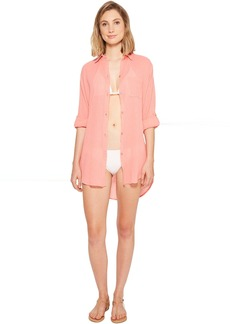 City Covers Collared Shirtdress Cover-Up