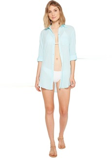 Kenneth Cole City Covers Collared Shirtdress Cover-Up