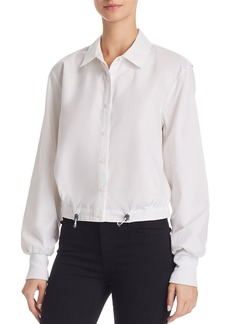 Kenneth Cole Collared Cinched-Waist Top