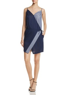 Kenneth Cole Color-Block Faux-Wrap Dress