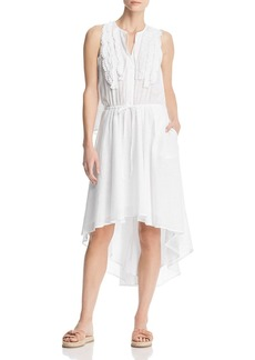 Kenneth Cole Crochet-Trim High/Low Dress